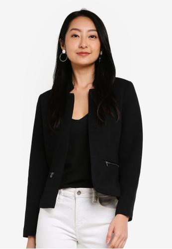 Boohoo Cape Blazer Jacket in Black Sizes 4-14