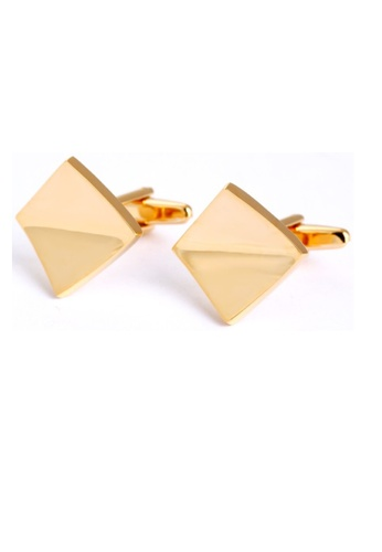 Kings Collection gold Gold Square Cufflinks (KC10019) 49D5AAC58A86A3GS_1