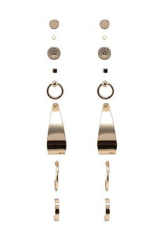07eecccf2 River Island gold Clean Coin Bumper Earrings Pack C371DACE260FAAGS_1