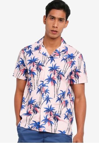 Banana Republic pink Slim Perforated Resort Shirt 27CA9AAA03600CGS_1