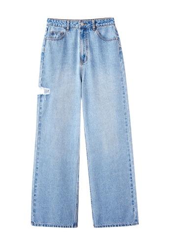 6IXTY8IGHT blue MEDI, High Waist Straight-Leg Jeans PN08984 EF664AA419371CGS_1