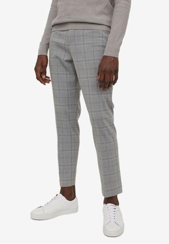 H&M grey and multi Slim Fit Cigarette Trousers E94A0AA1590750GS_1
