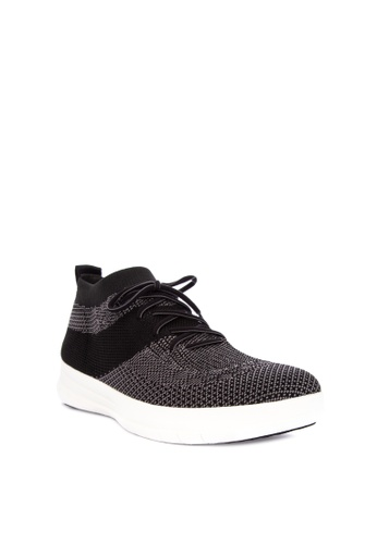 Fitflop black Uberknit Slip-On High Top Sneaker 2F94BSH45F440CGS_1