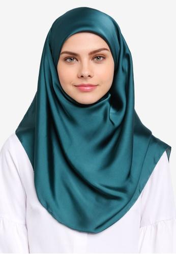 Najjah green Satin Silk Square Hijab NA225AA0SR69MY_1
