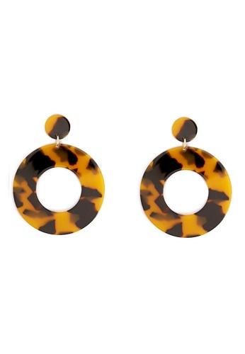 FOREVER 21 brown Tortoiseshell Drop Earrings 124ACAC7B68C9AGS_1