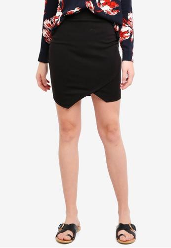 ICHI black Kate Wrap Skirt D1EEEAAF0E07EFGS_1
