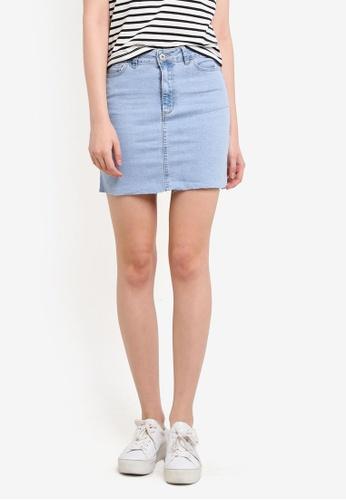 Factorie blue Malibu Stretch Skirt FA880AA0SAAEMY_1