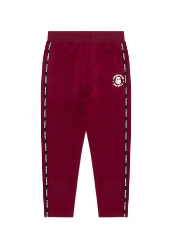 Fingercroxx red Logo tape track pants C37CEAAFC5623BGS_1