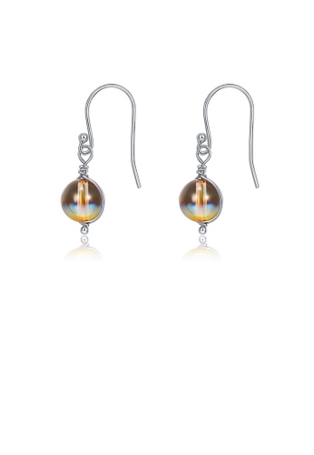 Glamorousky multi 925 Sterling Silver Fashion Elegant Geometric Round Earrings with Austrian Element Crystal 7044AACA78472EGS_1
