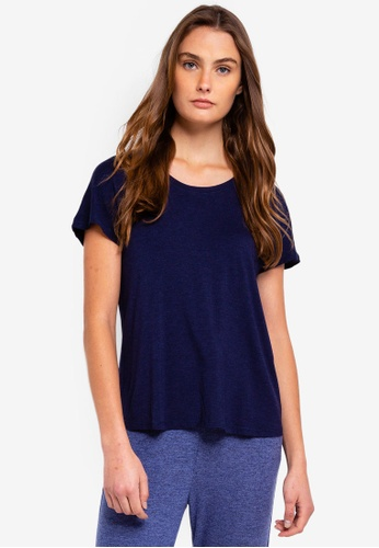 Cotton On Body blue Sleep Recovery Cap Sleeve T-Shirt 7CD18AA8C145BCGS_1