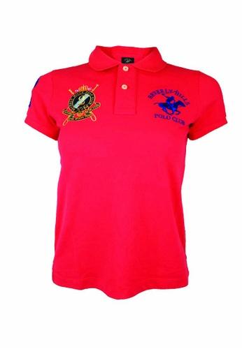 Beverly Hills Polo Club BHPC Women Polo Short Sleeve Shirt 9488AAADA4CC24GS_1