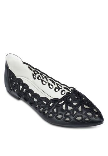沖孔花邊平esprit 尖沙咀底鞋, 女鞋, 鞋