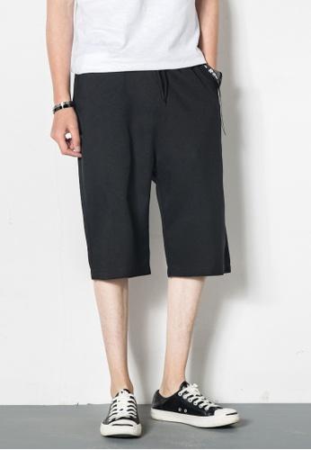 hk-ehunter black Men Relax Fit Shorts 1BDF3AAEBBDD0CGS_1