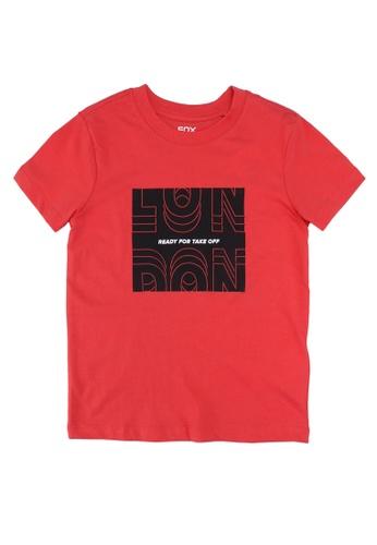 FOX Kids & Baby red Graphic Print T-Shirt A6EB0KA1D398C4GS_1