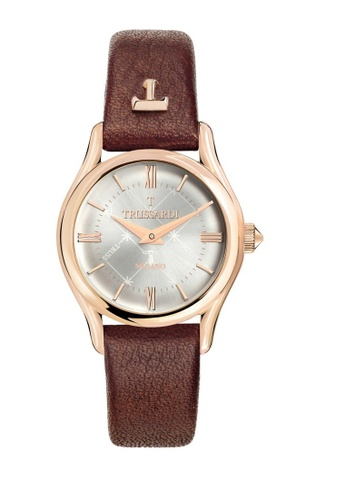 T Light Quartz Watch R2451127501 Brown Leather Strap