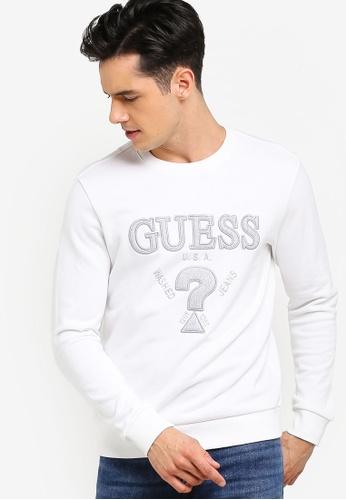 Guess 白色 LOGO印花棉T E698DAA0FA1CF8GS_1