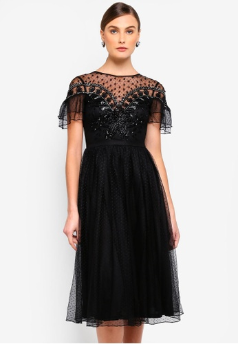 Buy Frock and Frill Dusty Flared Sleeve Midi Dress Online on ZALORA ... 3f972de13