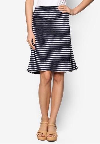 Pascale 條紋短裙、 服飾、 迷你裙ChaniraPascale條紋短裙最新折價
