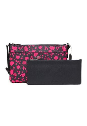 Coach pink COACH CROSSBODY BAGS (F56838) - SILVER/MIDNIGHT PINK RUBY 568B3ACEB8027CGS_1