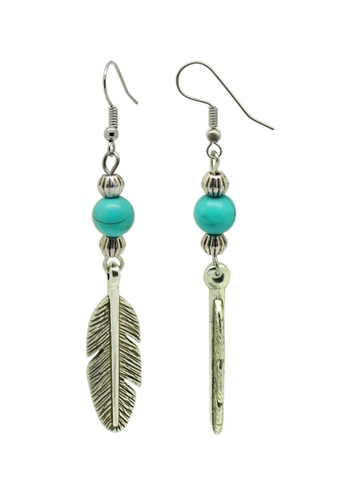 Fur Nyce green Turquoise Bead Tibetan Style Hook Earrings FU779AC84KBJMY_1