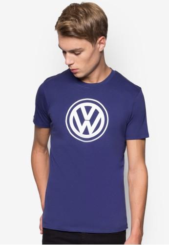 品牌標誌圓領T 恤,esprit 高雄 服飾, 服飾