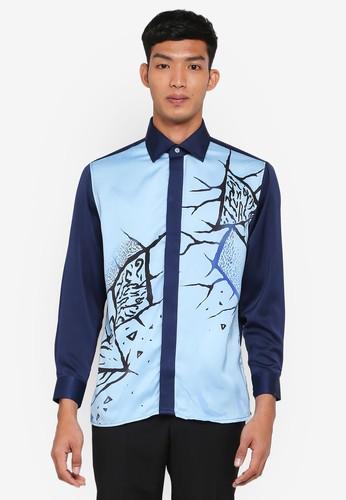 Gene Martino blue Batik Art Top BB6E9AA47AE5FEGS_1