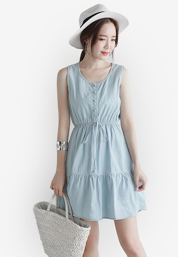 Eyescream blue Chambray Dress EY853AA0S1K8MY_1