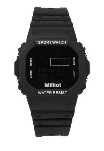 Milliot & Co. 黑色 Jaycee 手錶 39411AC350F60AGS_1