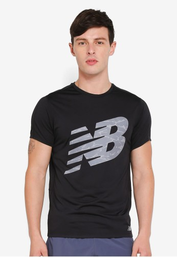 New Balance black Performance Printed Accelerate Tee 3F776AADD31CA4GS_1