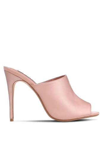 ZALORA pink Satin Mules F558BSHC93E87AGS_1