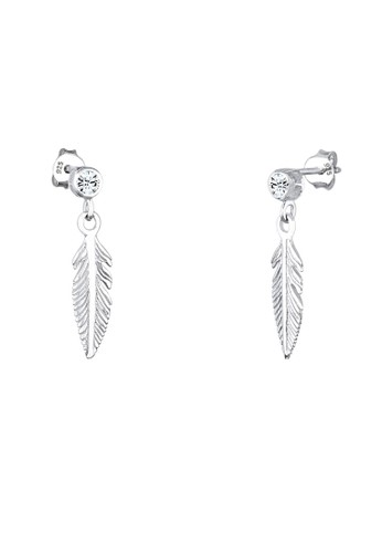 施華洛世奇水晶羽毛 925 純銀耳環esprit hk分店, 飾品配件, 耳釘