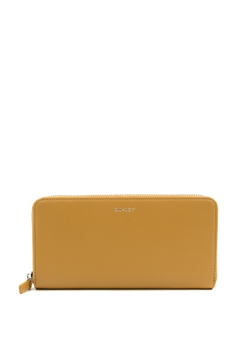 Enjoybag yellow Calf Split Calf Leather ID Zip Wallet 5696CAC9EFFF54GS_1