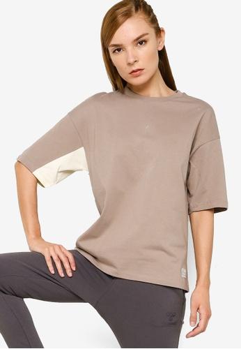 Hummel 褐色 撞色T恤 B7BD2AA5797D8AGS_1