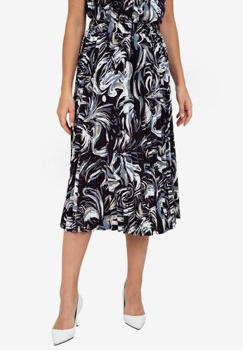 ZALORA WORK multi Pleated Flowy Skirt 3E674AABB9F7CFGS_1