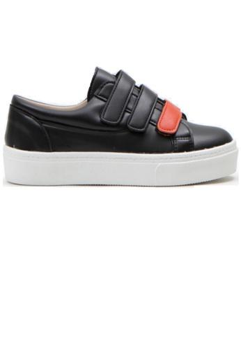 Crystal Korea Fashion 黑色 韓國制百搭拼色便利貼休閒鞋 E27A2SHDA9306EGS_1