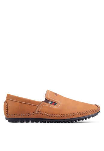 Louis Cuppers brown Classic Slip Ons LO977SH78ZJTMY_1