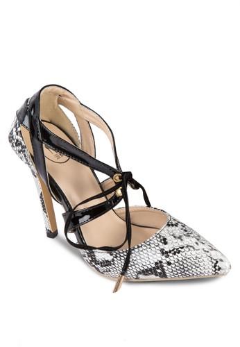 動物esprit 內衣紋交叉帶高跟鞋, 女鞋, 鞋