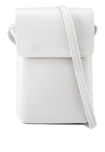 Red's Revenge white Cleo Minimalist Phone Pouch Sling Bag 9DA22AC3A969C6GS_1