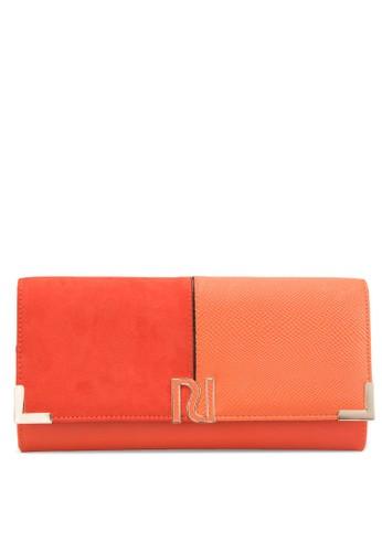 混合材質翻蓋手拿包、 包、 包RiverIsland混合材質翻蓋手拿包最新折價