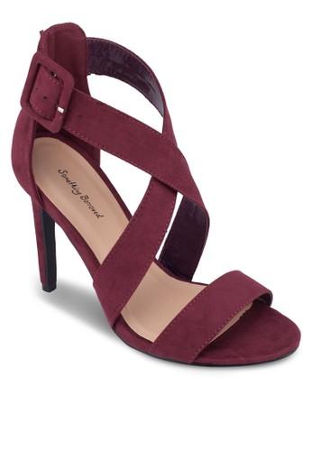 一字zalora退貨帶交叉繞踝高跟鞋, 女鞋, 鞋