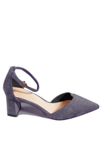 Twenty Eight Shoes 藍色 尖頭絨面中踭鞋197-1 2A2F3SH4D8B64FGS_1