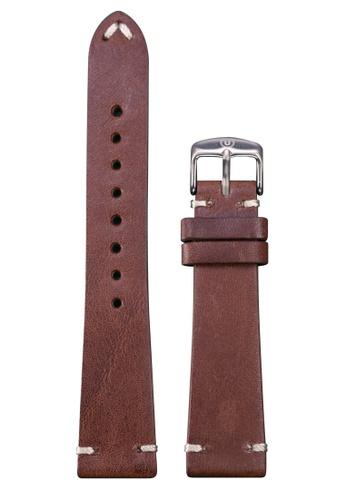 Undone brown Undone Brown Calf Leather Strap 20mm (Silver Buckle) UN712AC2VEJPHK_1