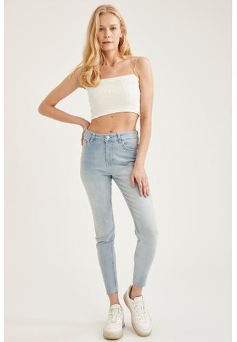 DeFacto blue High Waist Skinny Jeans 9E46FAA0F95114GS_1