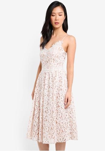 Little Mistress white V Neckline Midi Dress LI976AA0SHR7MY_1
