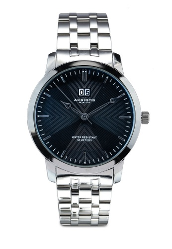 Akribos XXIV silver Silver Tone Watch E711CACAAF4735GS_1