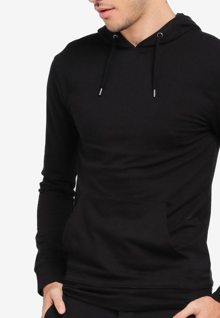 Fit Hoodie Topman Muscle Black Black 1O7q6Tx