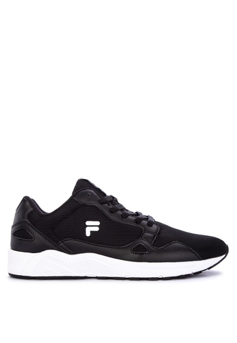 Fila black Rodge Running Shoes 58A45SH8DB536AGS_1