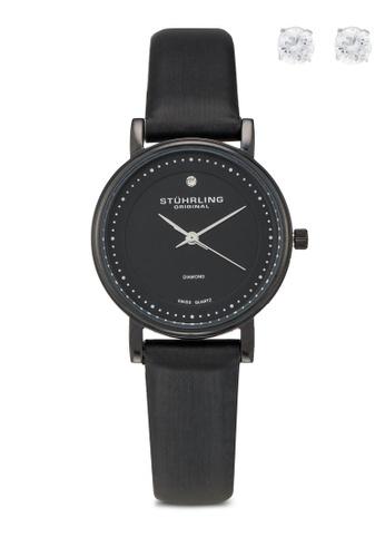 Stuhrling Original black Stuhrling Watch Set 734L.03.SD 100BEAC53292E9GS_1