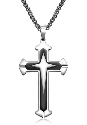 Trendyshop black Cross Pendant Necklace C1A26AC491B83BGS_1