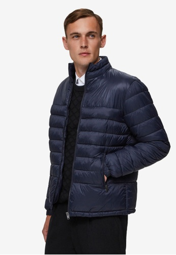 Selected Homme navy Nathan Puffer Jacket 8522DAA1C5CCA6GS_1